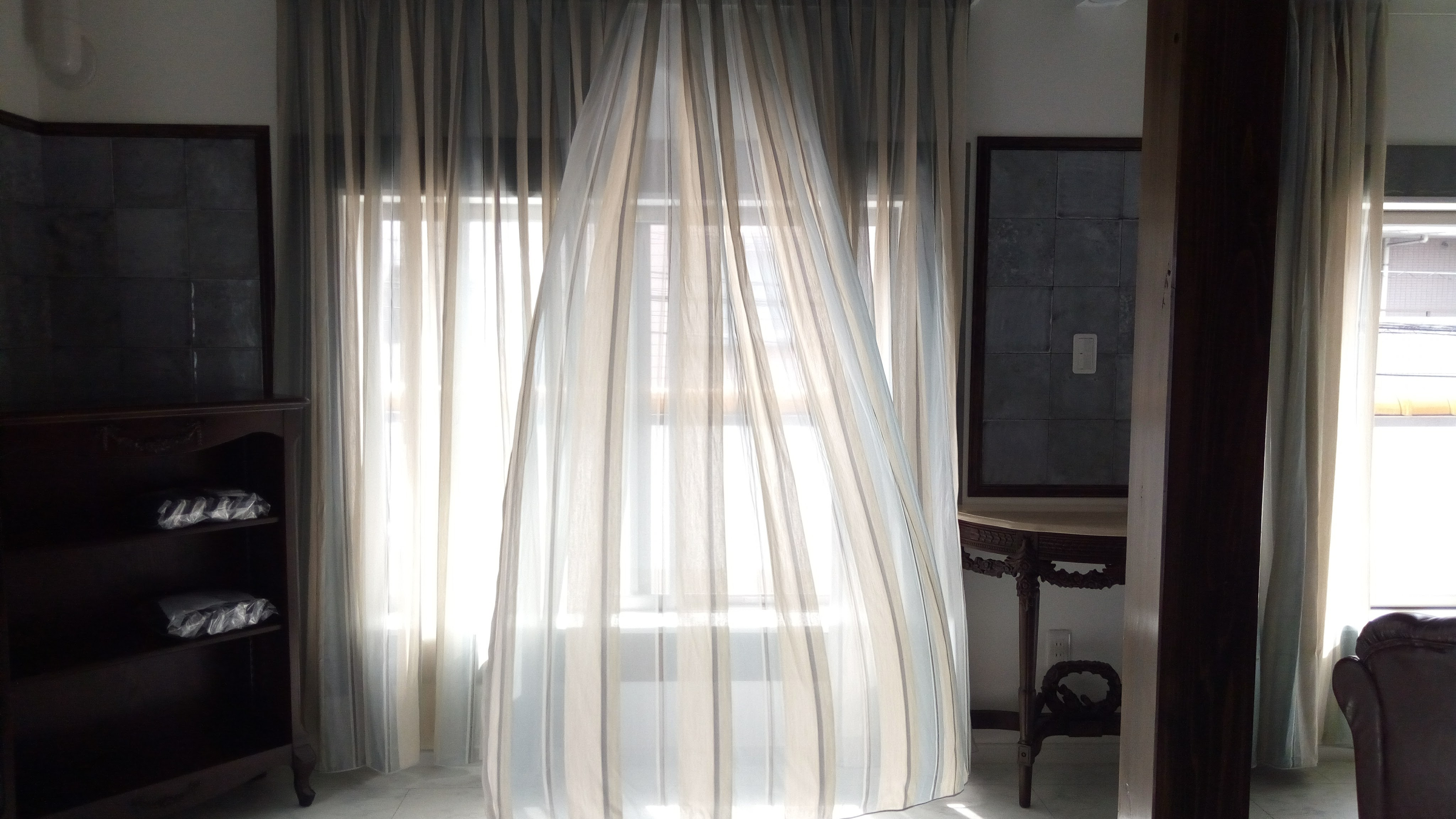 川島織物のカーテン